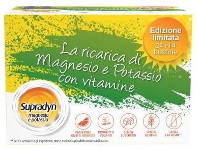 Supradyn Magnesio e Potassio Limit Edition 14+24 bustine Integratore per la stanchezza